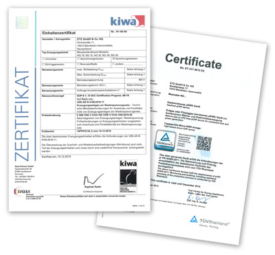 Wir sind zertifiziert